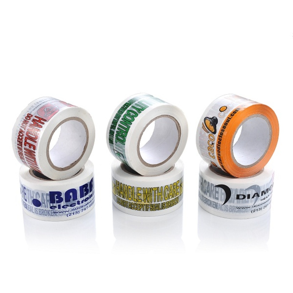 Milky White Printed Packing Tape